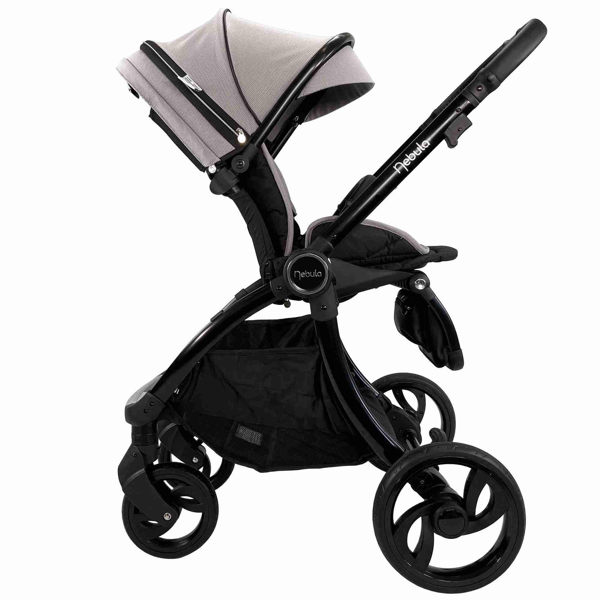 Venture Nebula stroller in Cool Grey side view