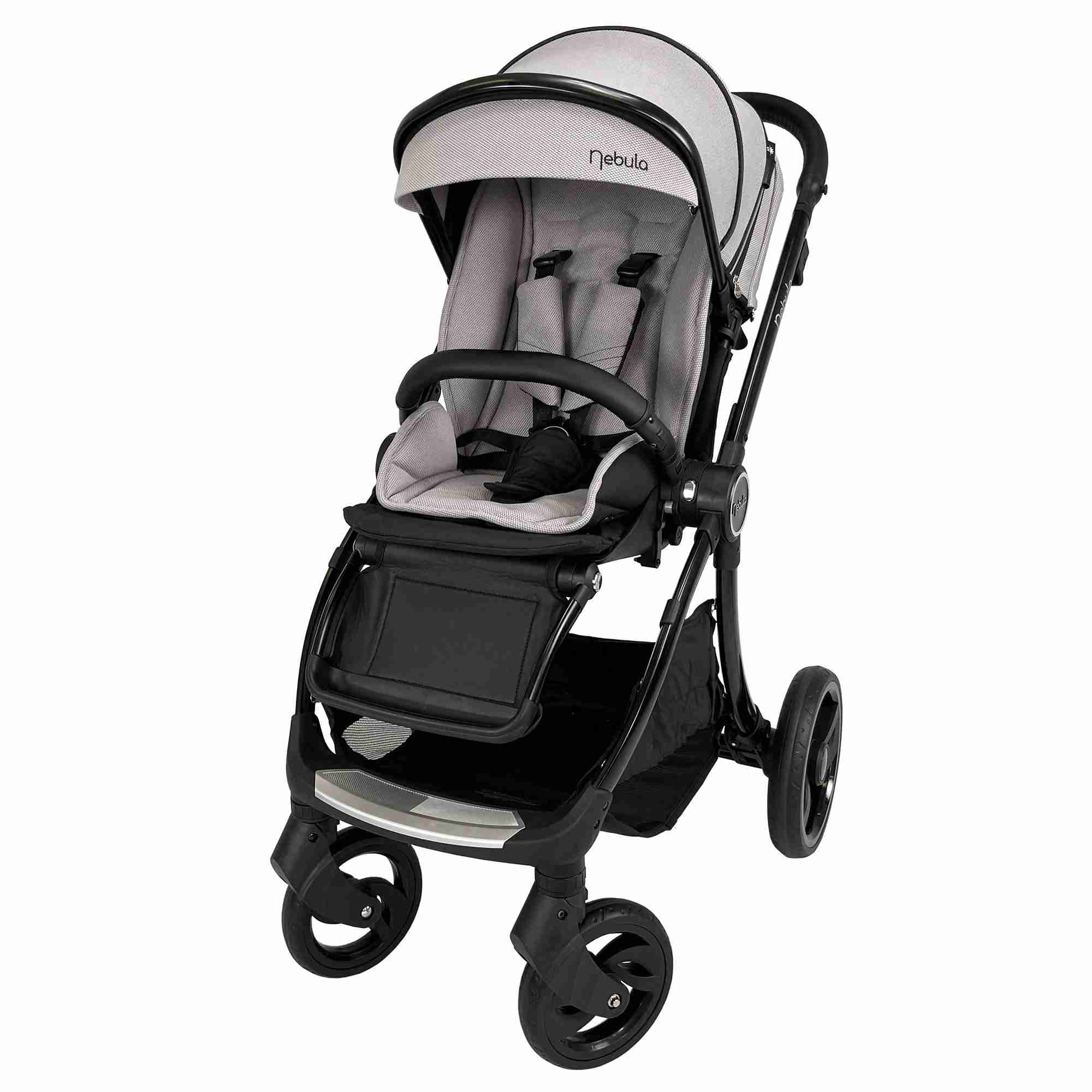 Venture Nebula Cool Grey baby stroller world facing mode