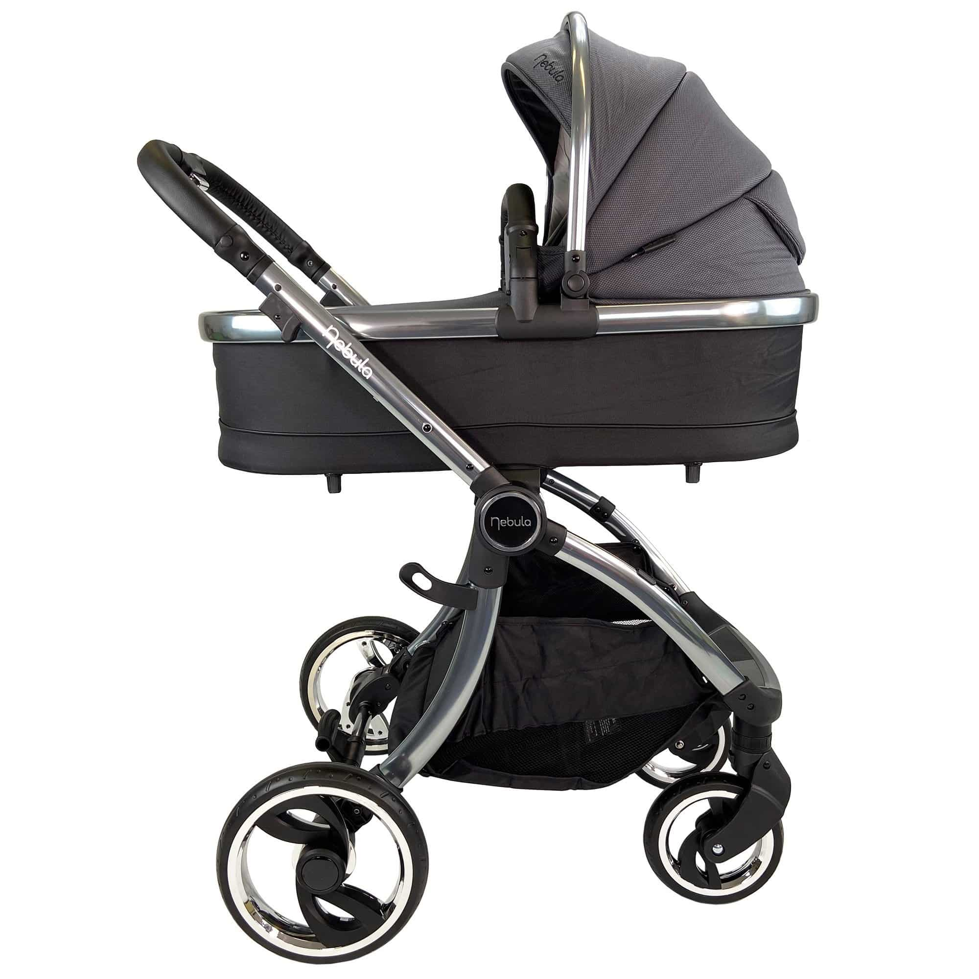 Venture Nebula Metro Grey baby stroller with matching carry cot