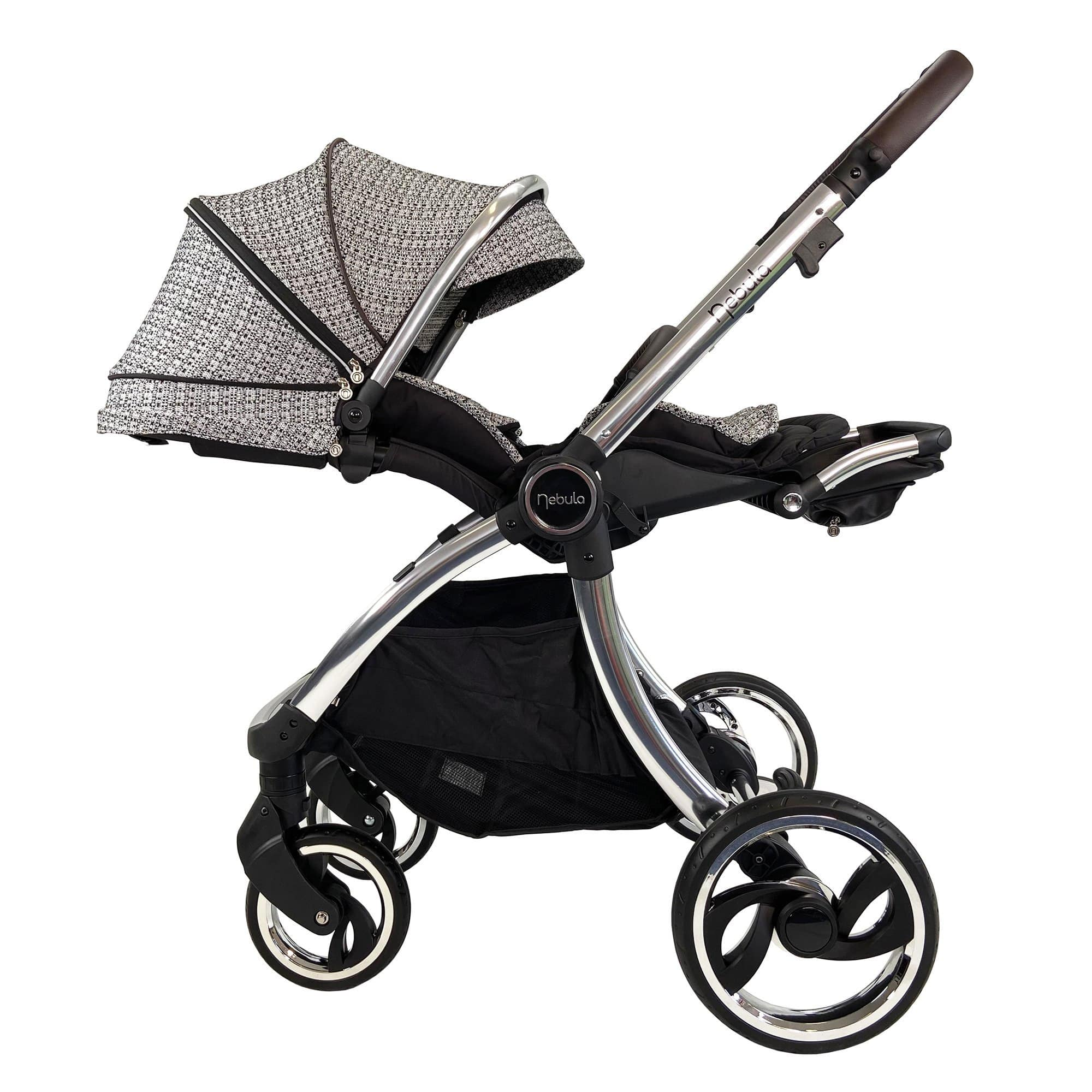Venture Nebula Signature stroller when in lay flat position