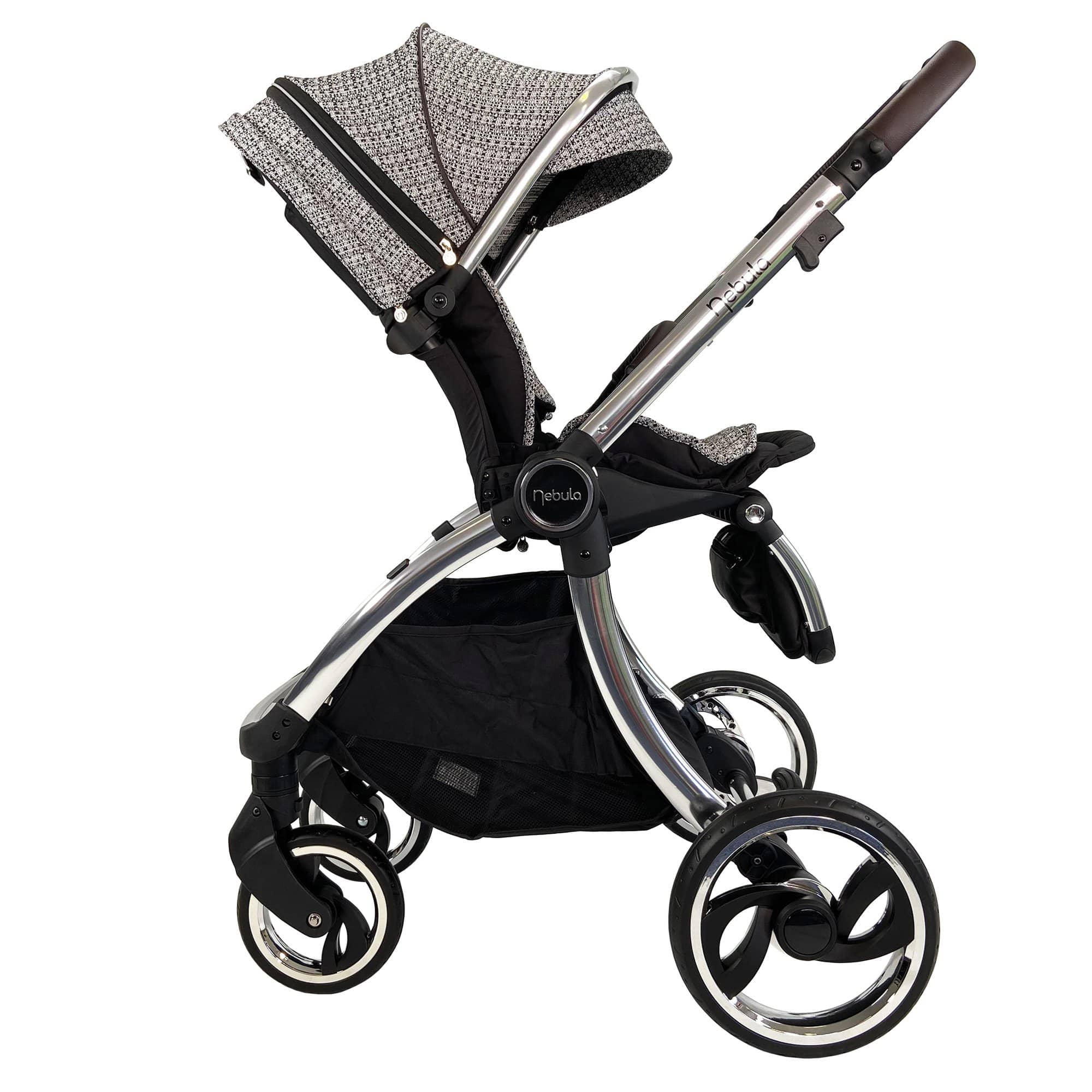 Side view of the Venture Nebula Stroller in Signature Edition fabrics