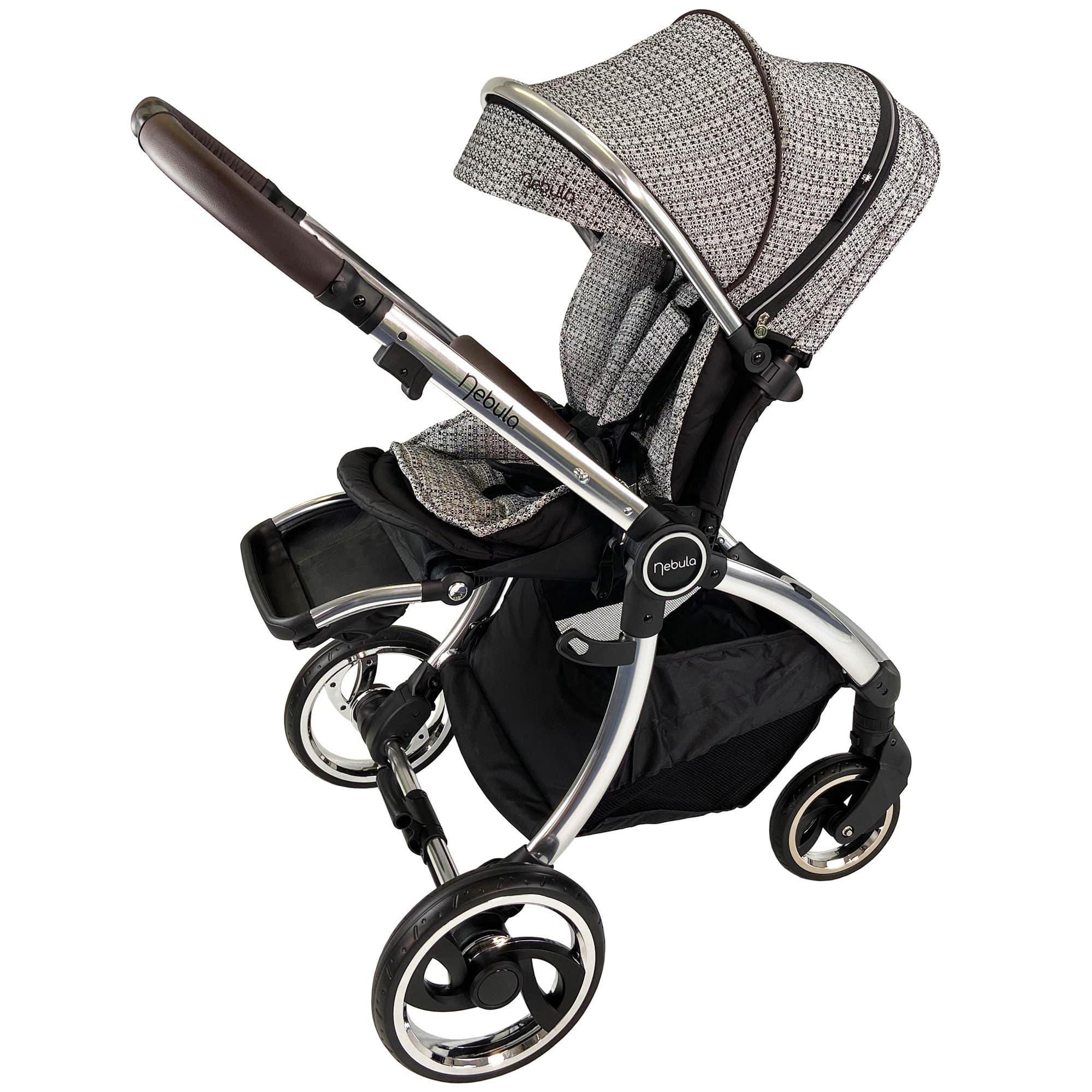 Venture Nebula Signature Edition stroller in parent facing mode.