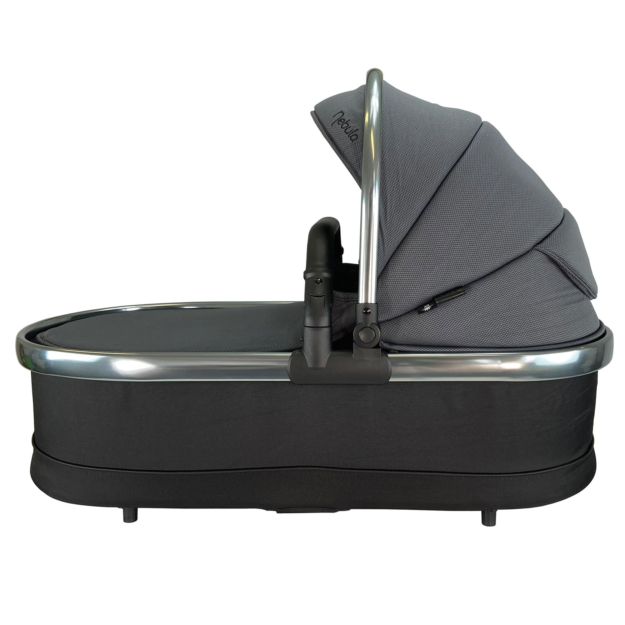 Venture Nebula Carry Cot Metro Grey Side View