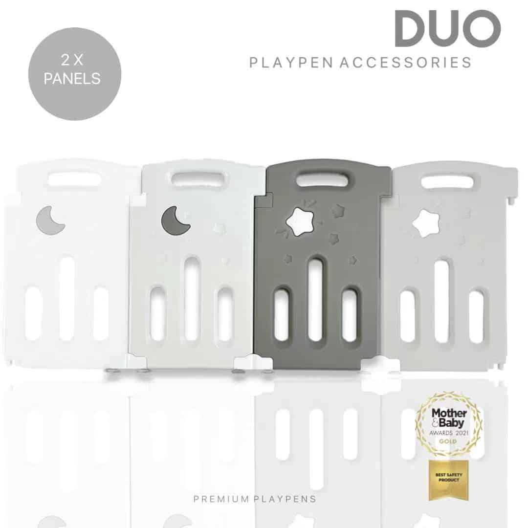 All Stars DUO Baby Playpen Extra Panels - Grey
