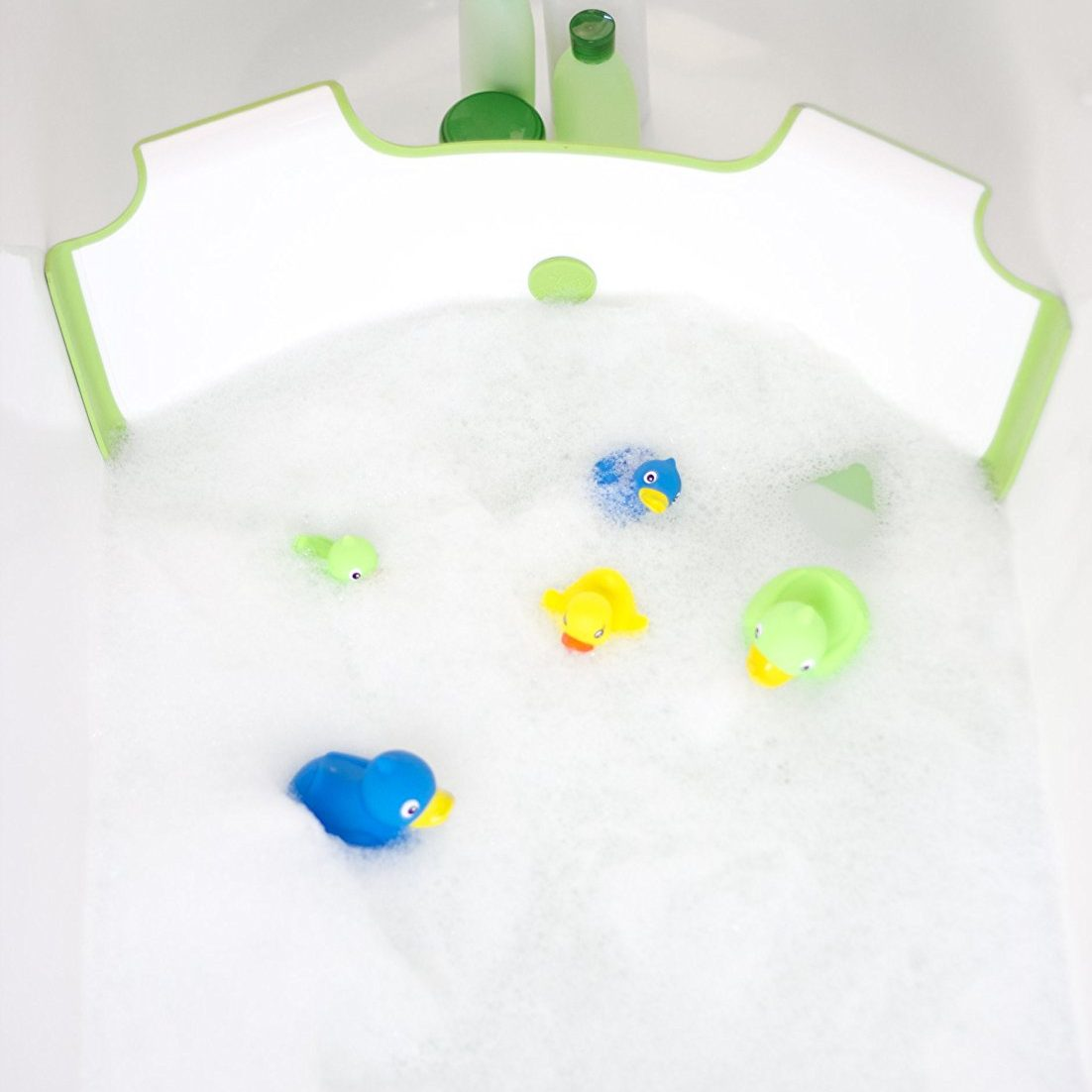 BabyDam bathwater barrier creates a small bath within your family tub