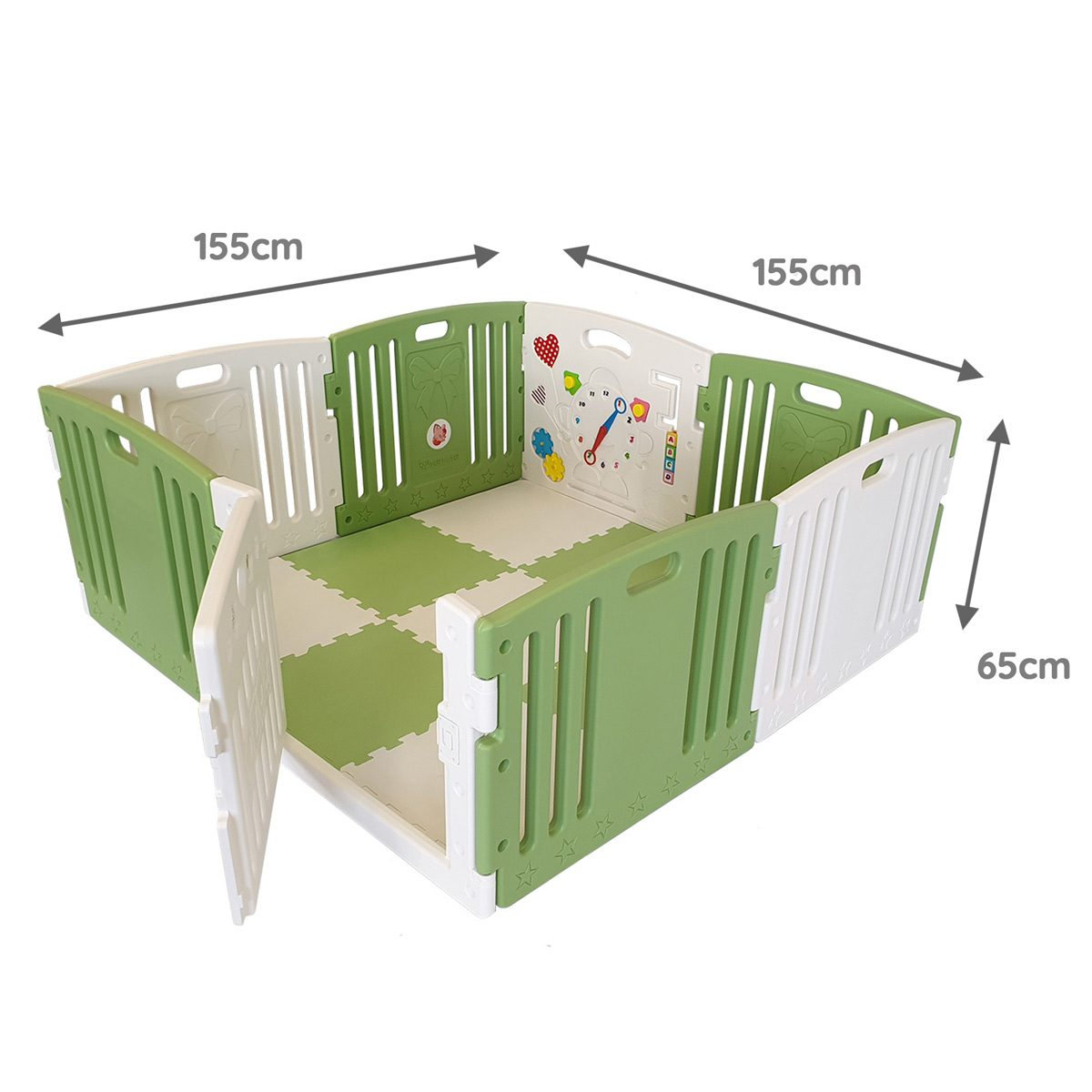 Green Venture All Stars DUO Baby Playpen Dimensions