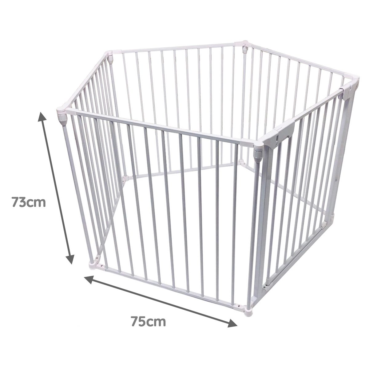 All Stars VUE White Baby Playpen Dimensions