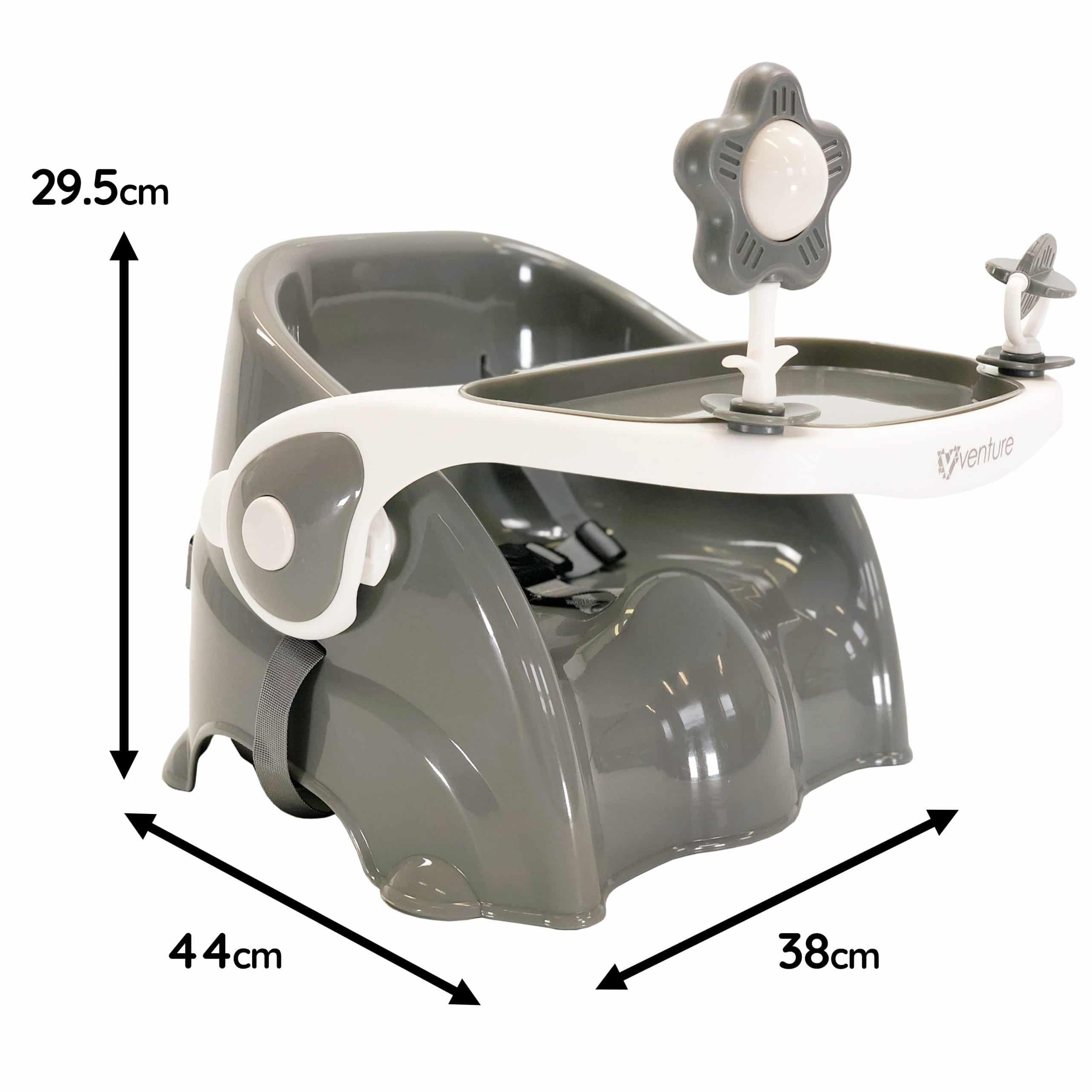 Grey Bubble Booster Seat Dimensions