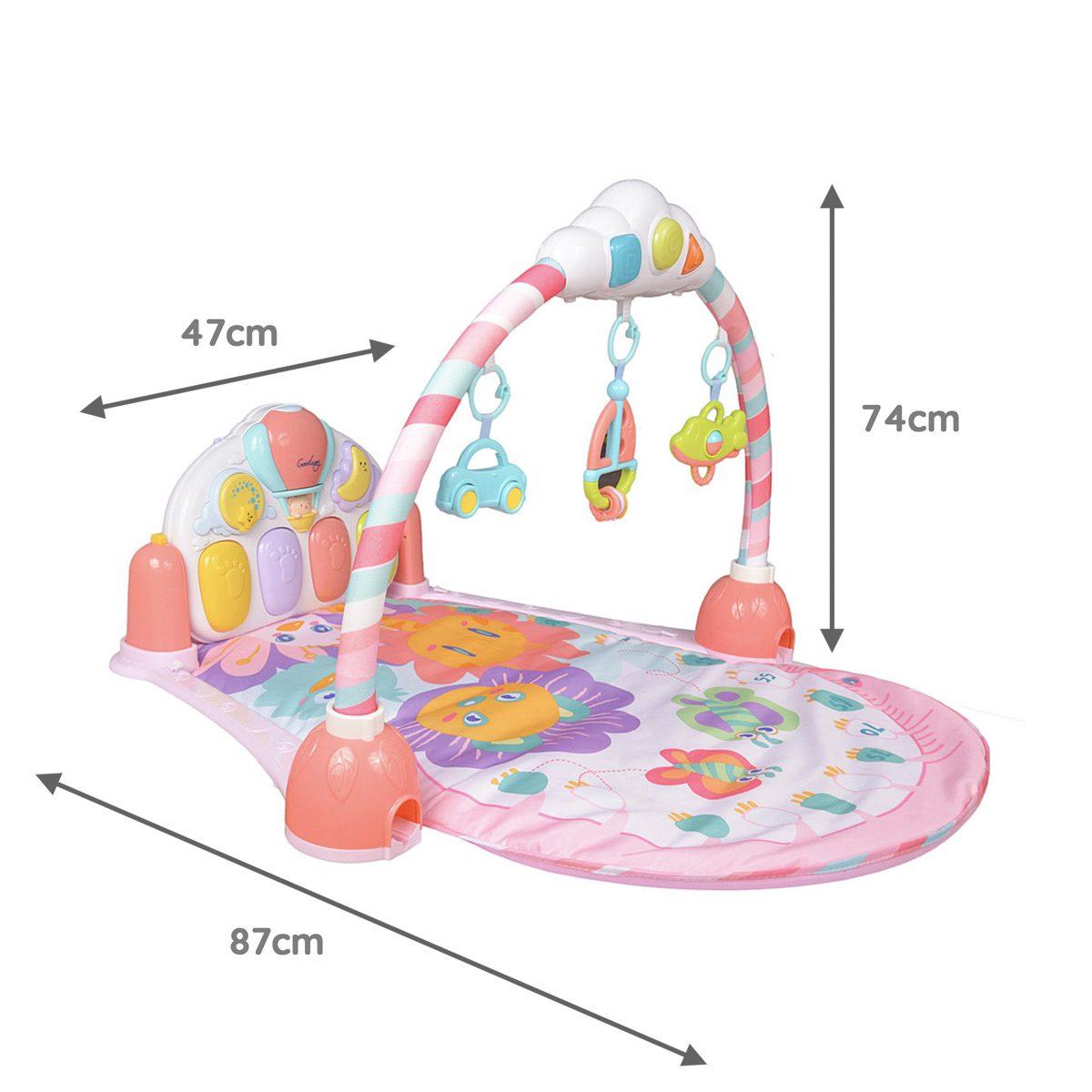 Mini Me & friends Pink Activity Mat Dimensions