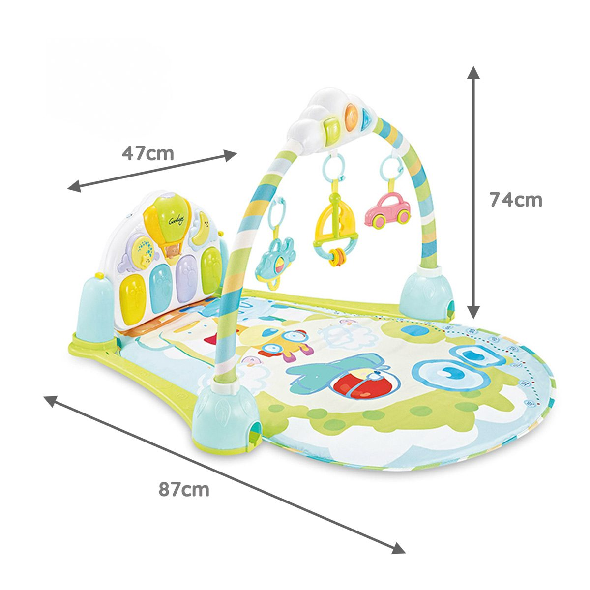 Mini Me And Friends Activity Mat Blue Dimensions