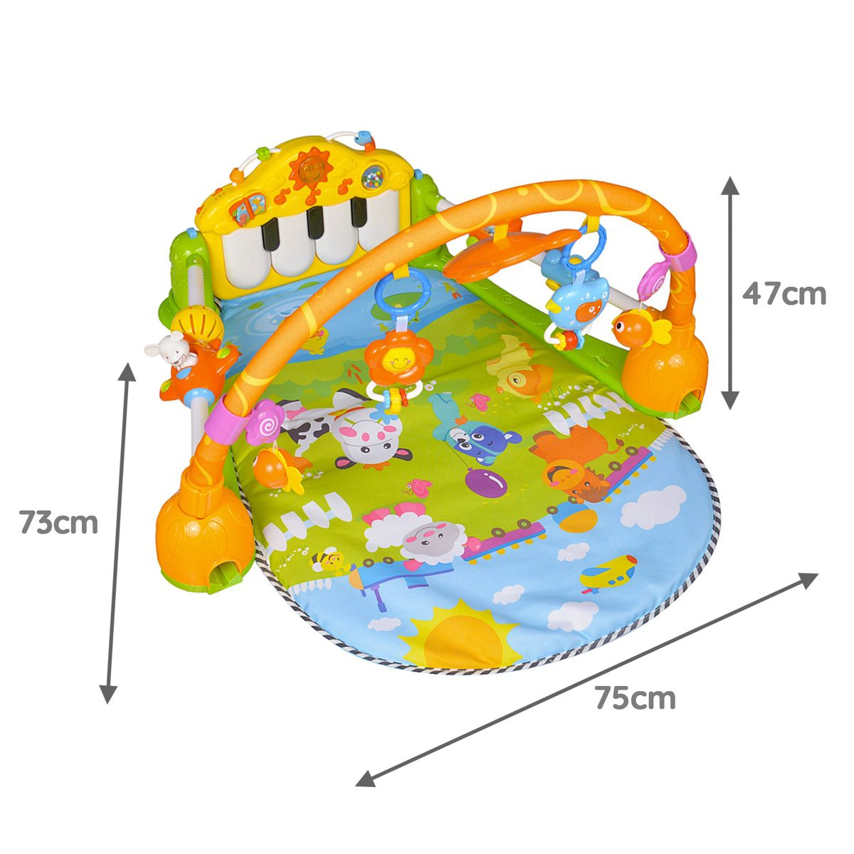 Mini Me & Friends Multicolour activity mat dimensions