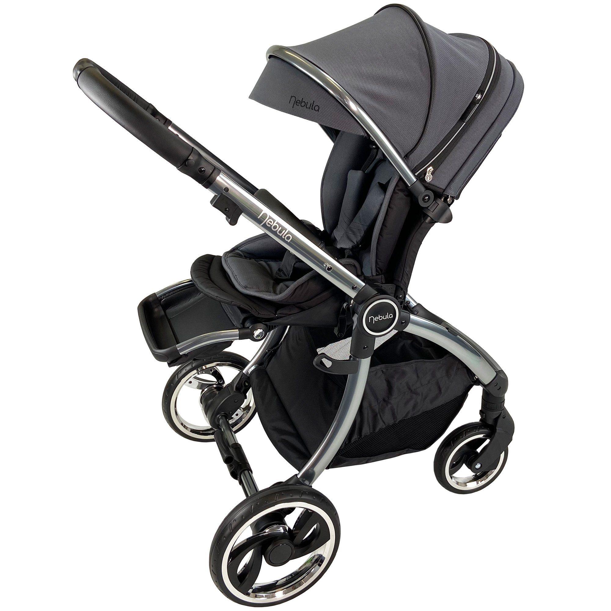 Venture Nebula Metro Grey stroller in parent facing mode