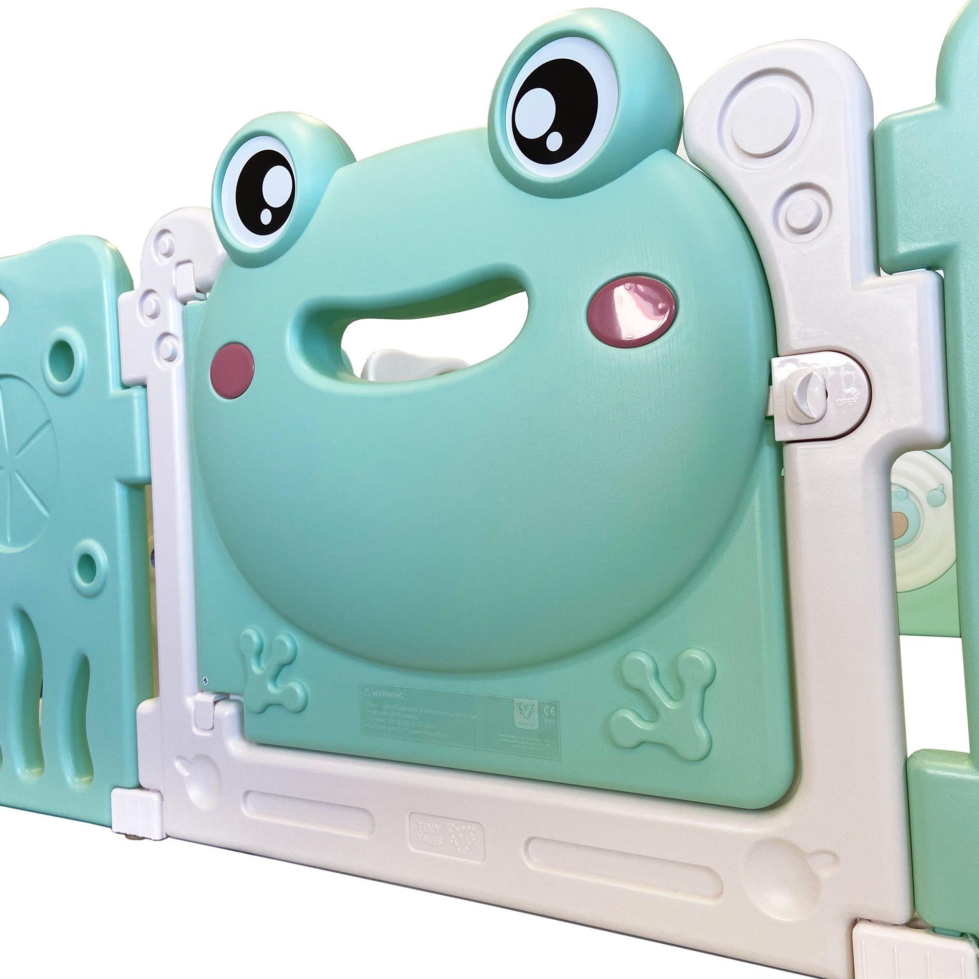Pond Pals playpen door feature panel