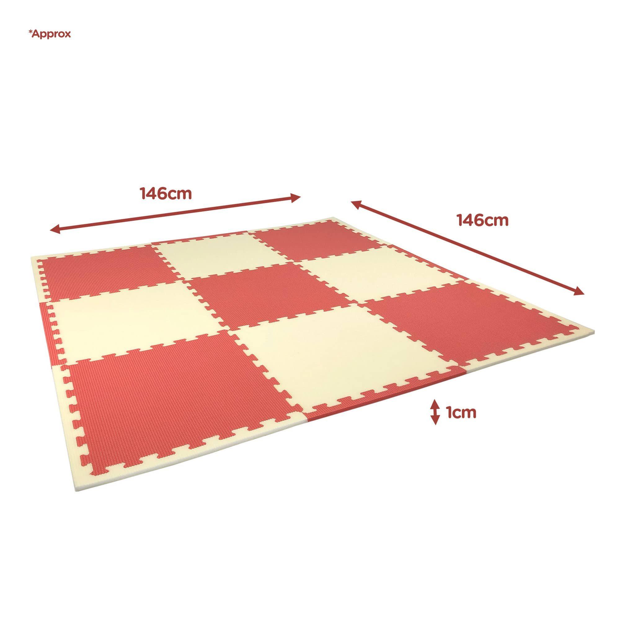 Coral reef foam playmats dimensions