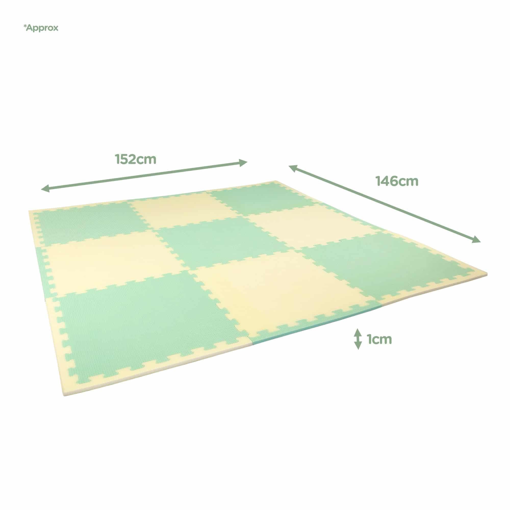 Lilypad soft foam playmats dimensions