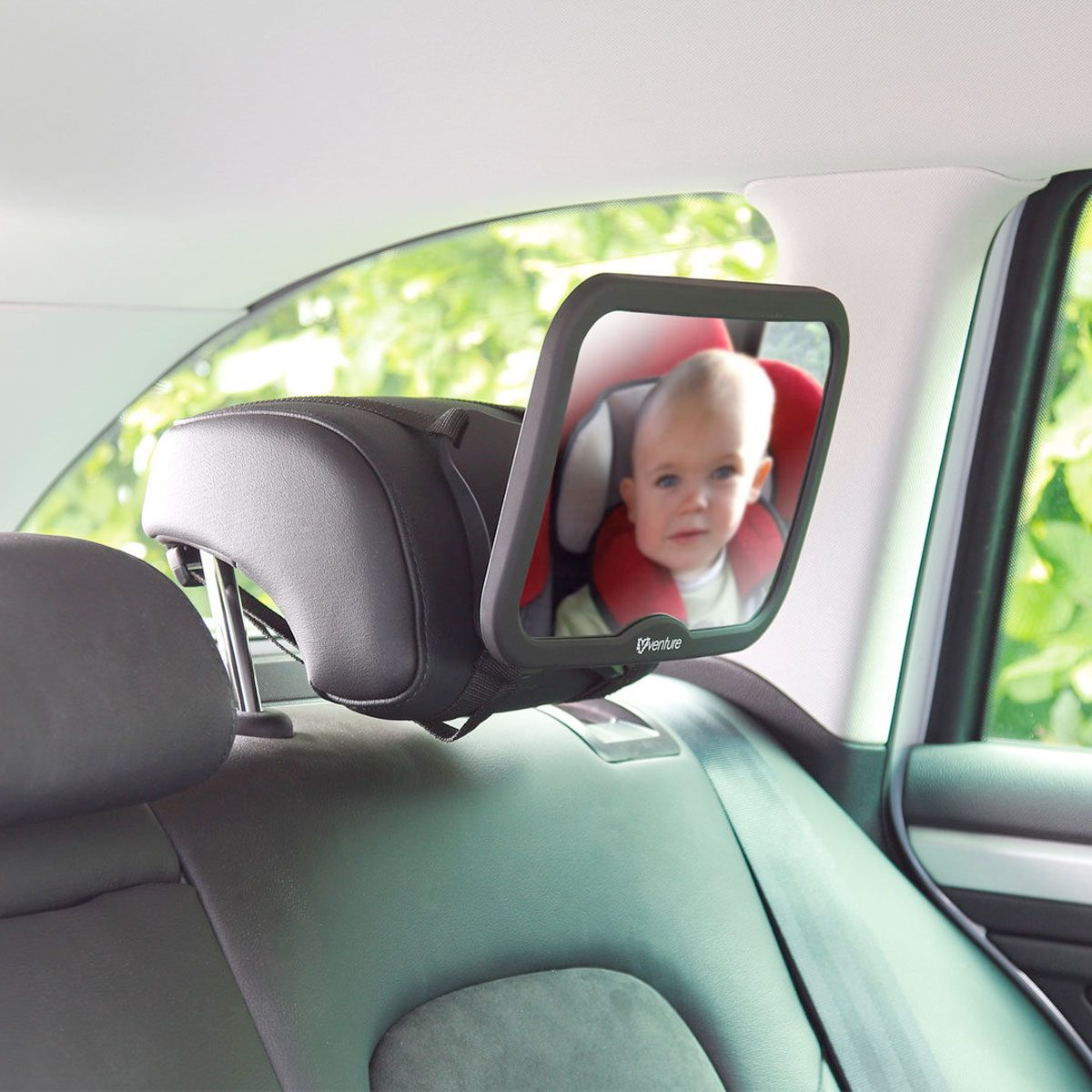 The Venture Acti-Vue car mirror gives you a great view of your child whilst driving