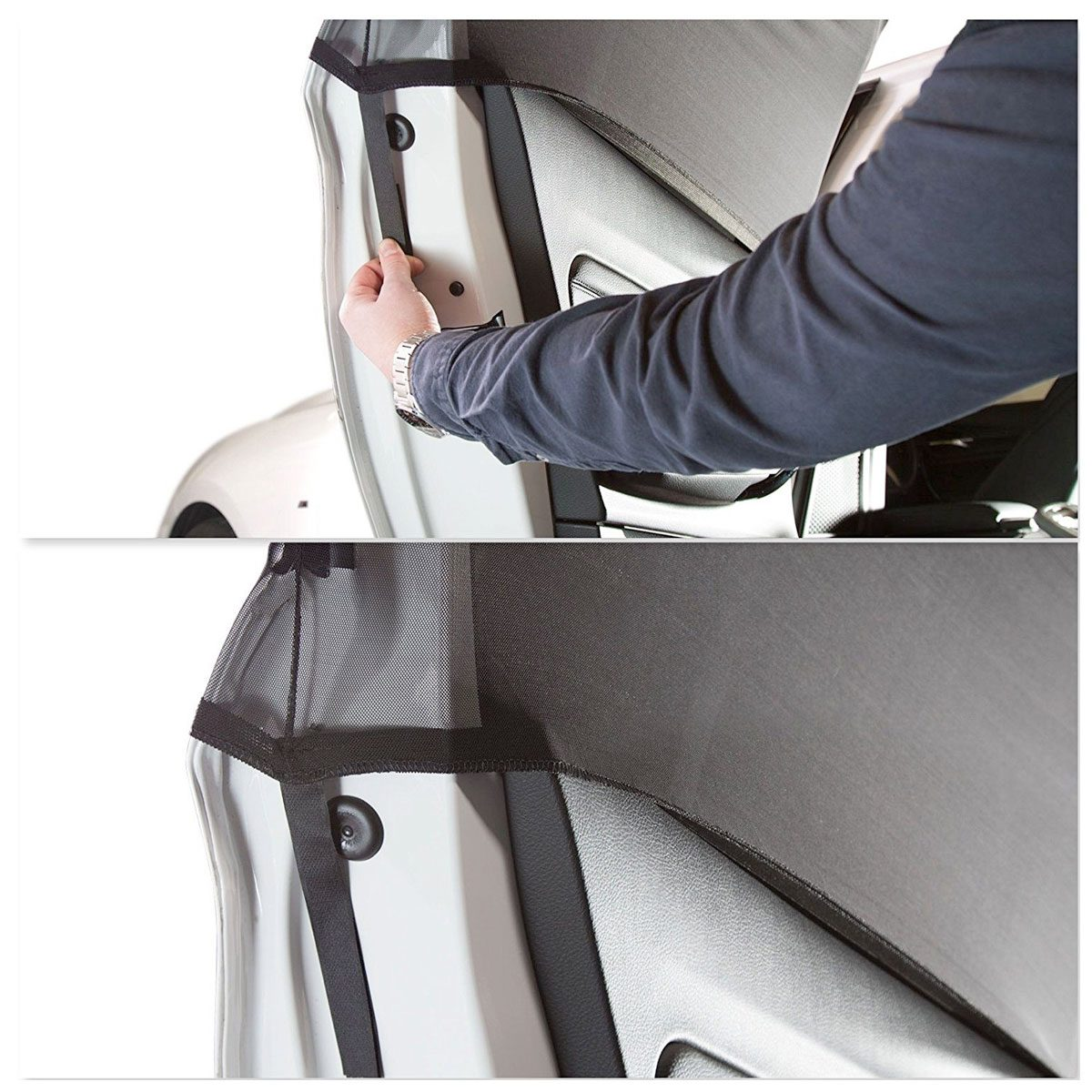 Easily installed onto the cars door frame