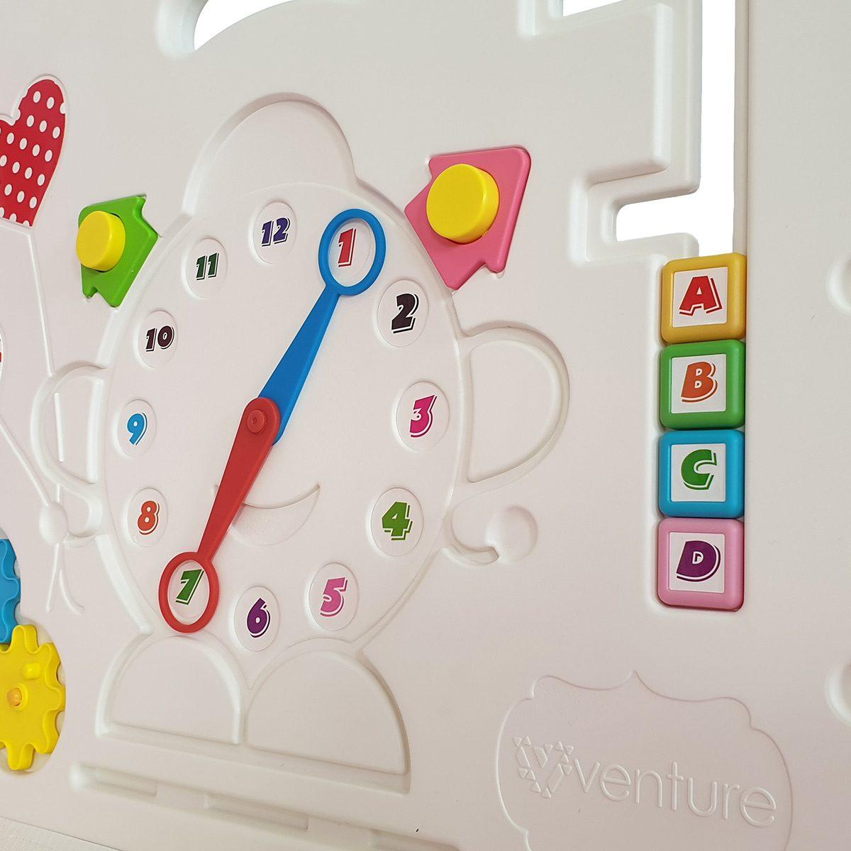 Venture All Stars DUO pink baby playpen game panel