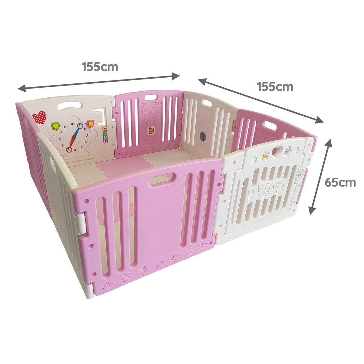 Venture All Stars DUO pink playpen dimensions