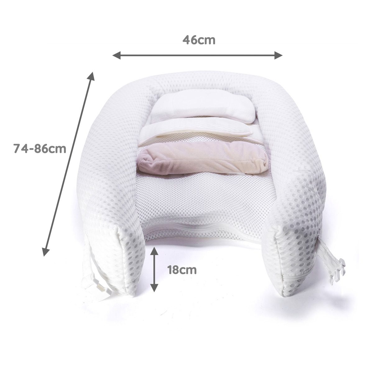 Venture Easy Dream baby nest dimensions white