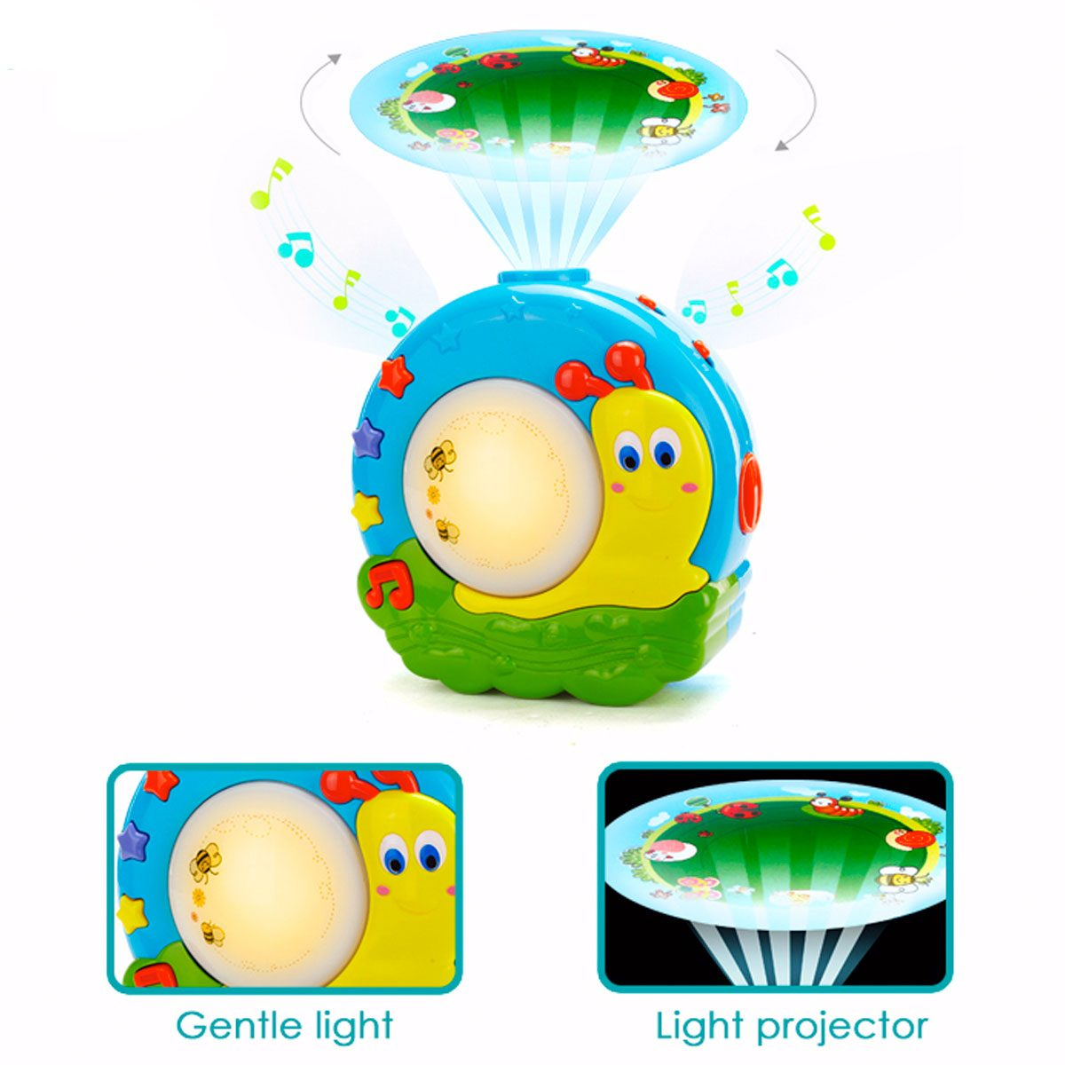 Soothing lightd and gentle projections help your child sleep