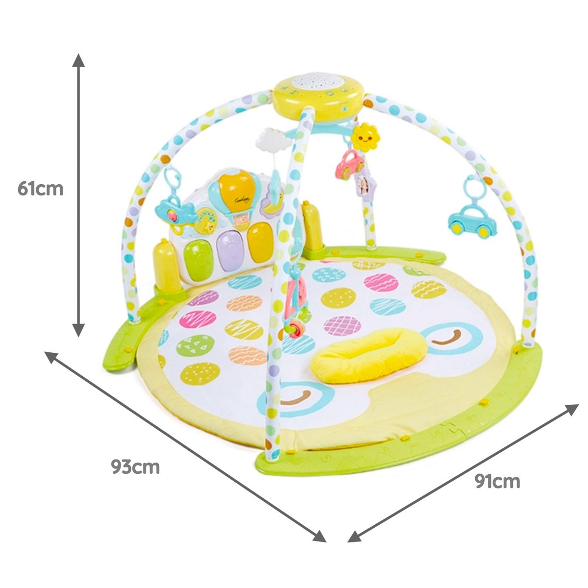 Venture Treetop Friends Mat Dimensions