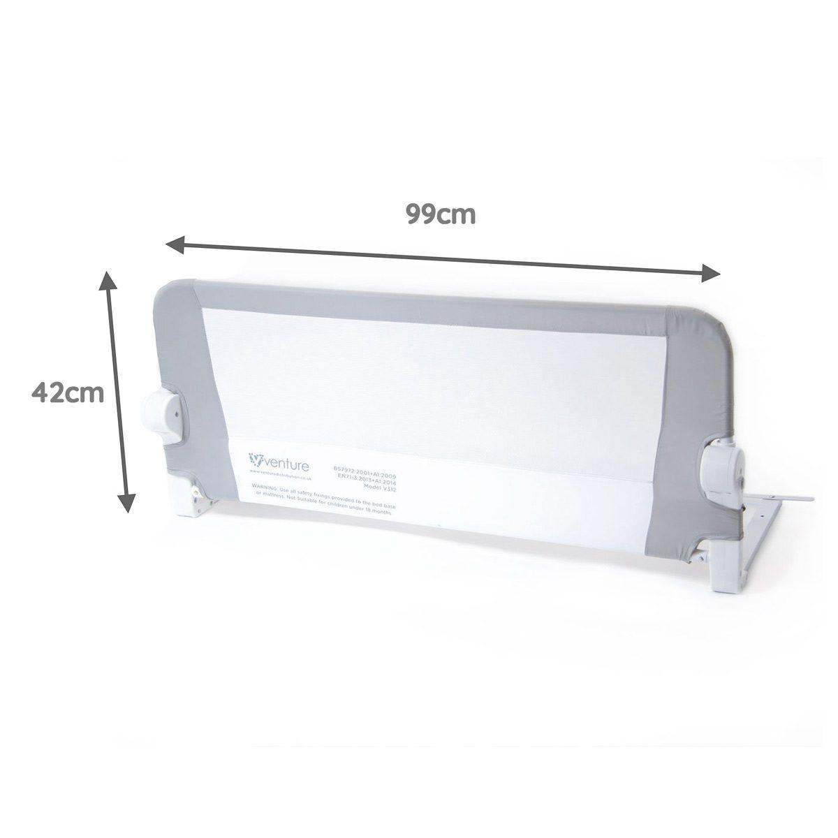 Venture Q-Fix Bed Guard Dimensions