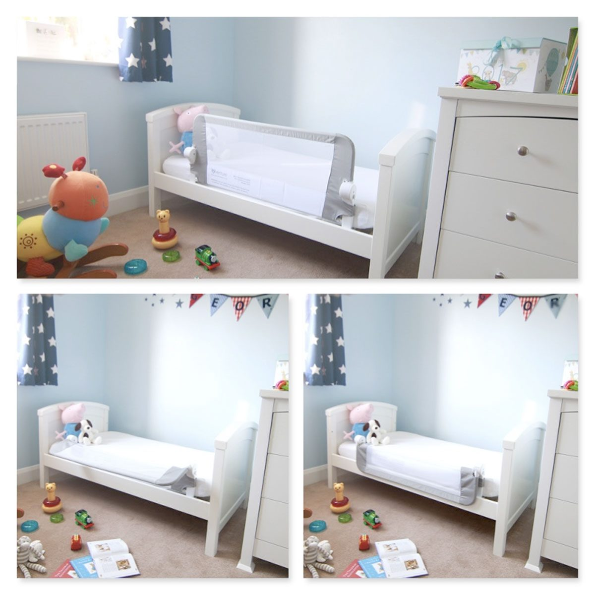 The Bed Guard can be folded to give your child easy access to and from their bed.