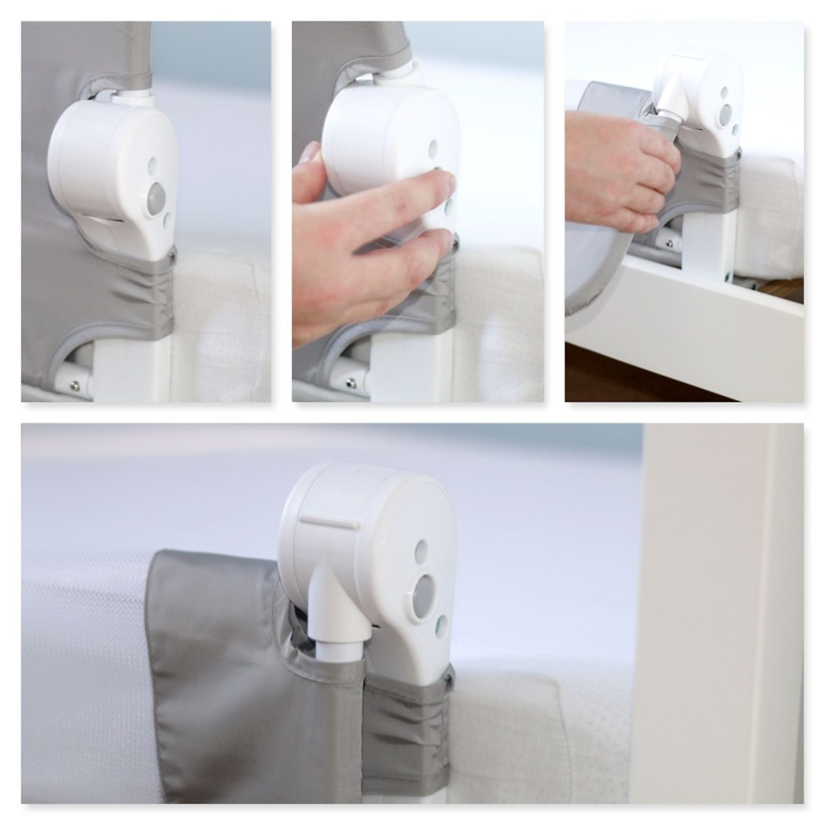 The folding mechanism is operate with the simple press of a button