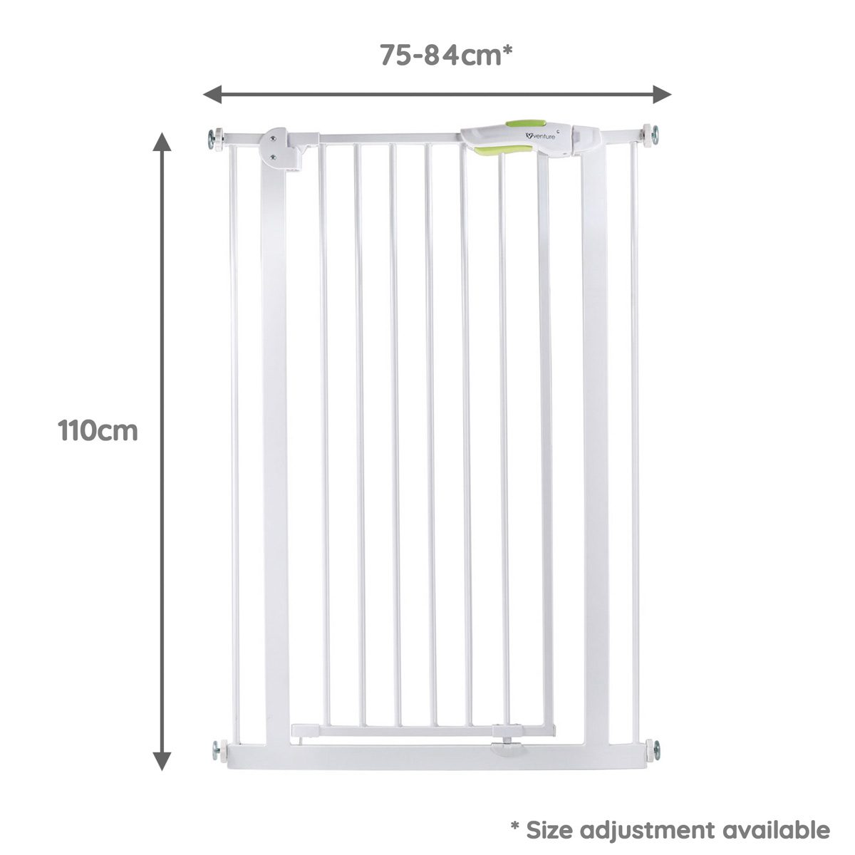 Q-Fix Safety Gate Dimensions White