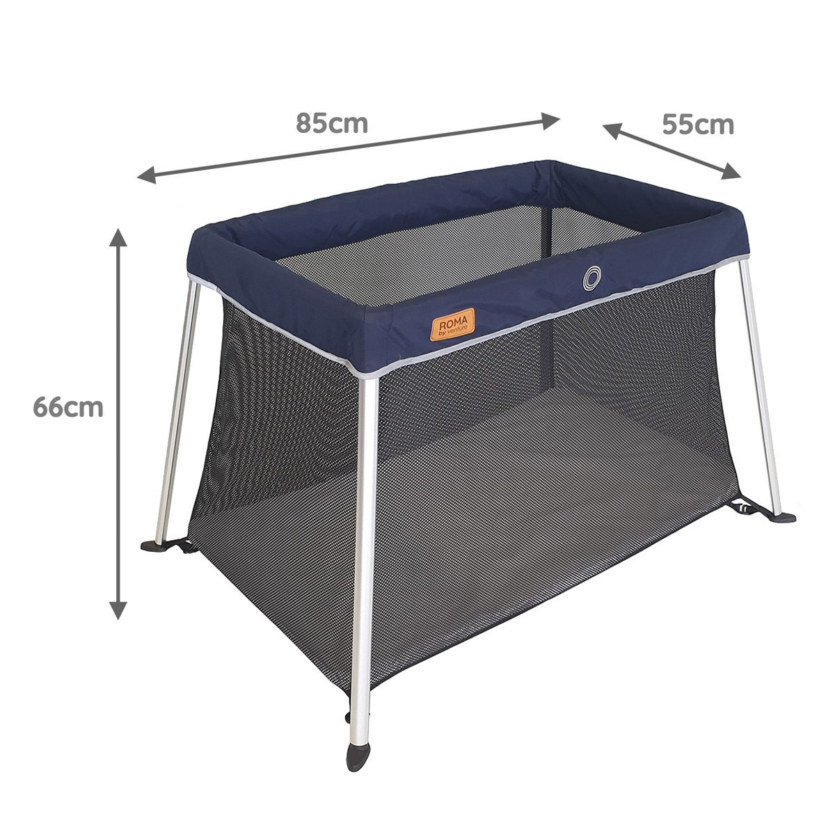 Blue Roma Travel Cot Dimensions