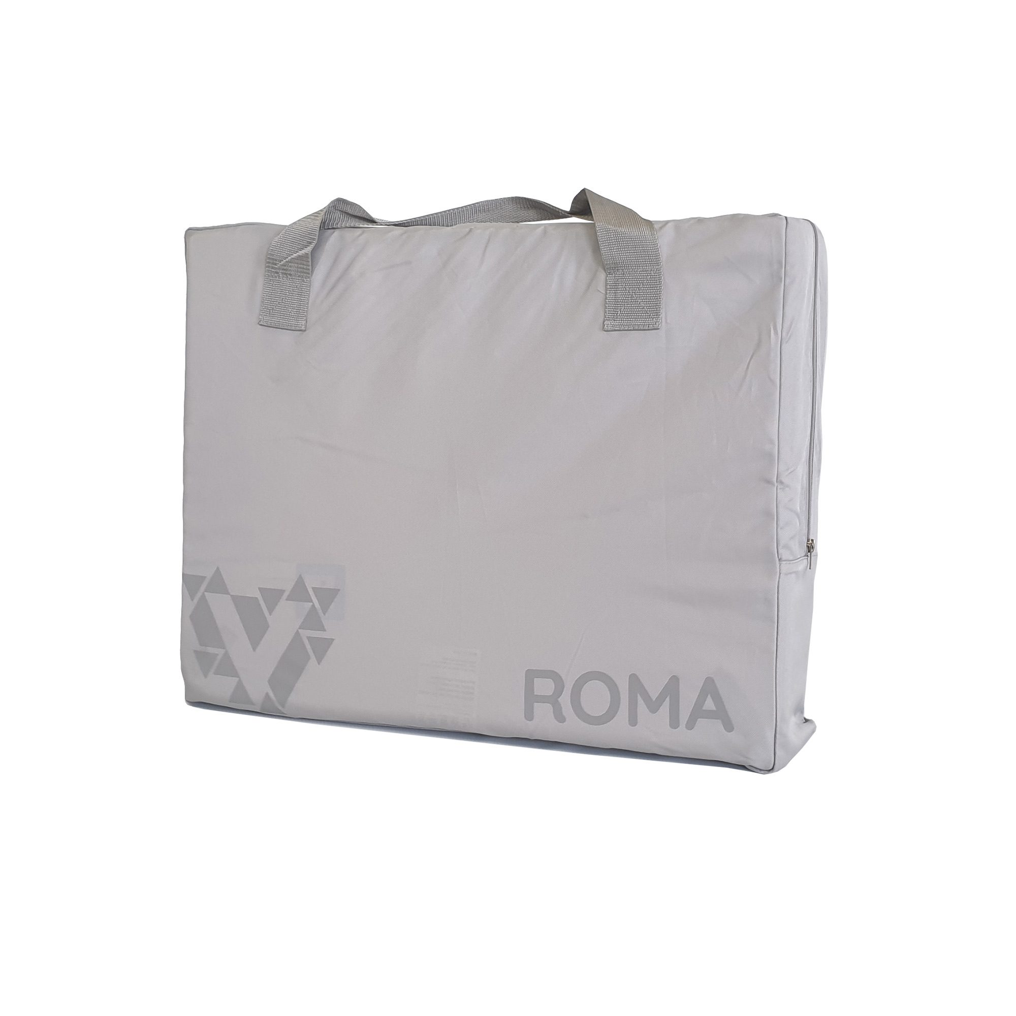 Customised Roma travel cot in stardust silver