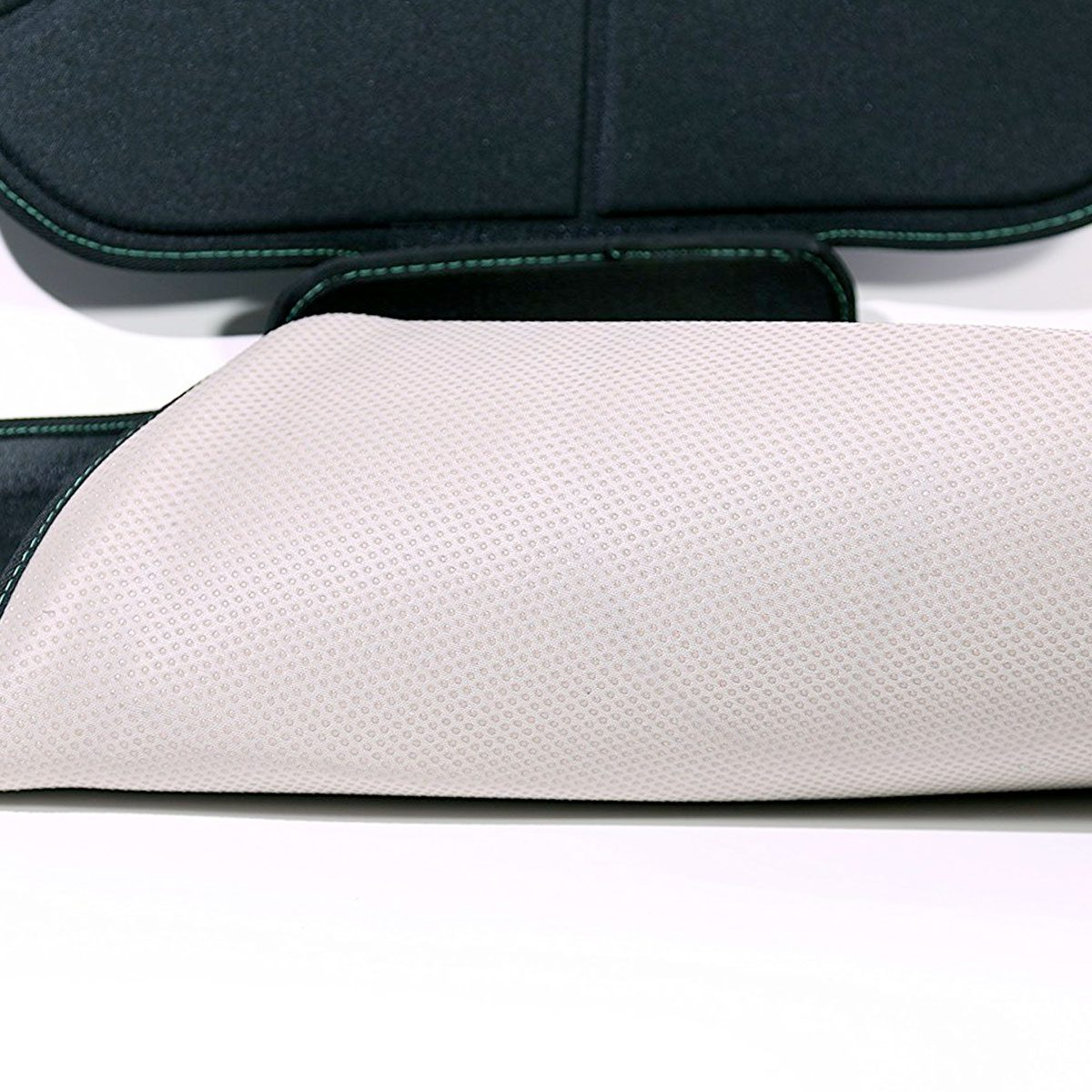Extra thick padding lines the car seat protector