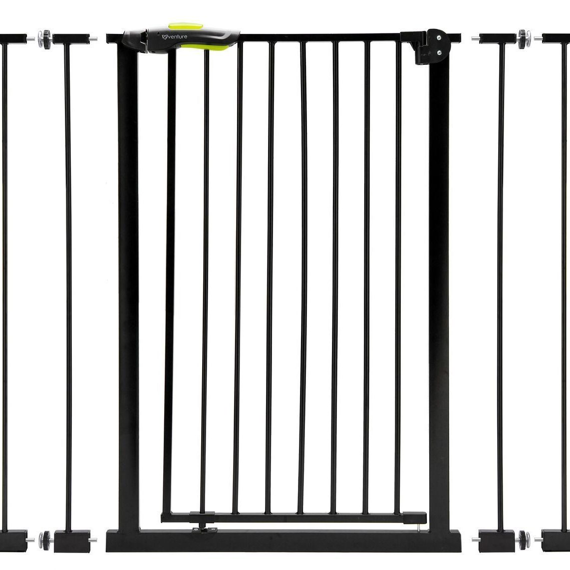 Venture Q Fix Extra tall pressure fit safety gate in Black